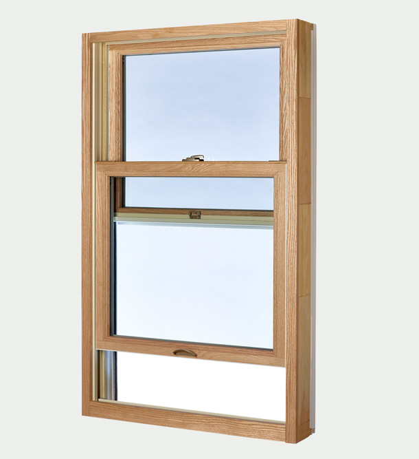 Single Hung Window - open bottom window view