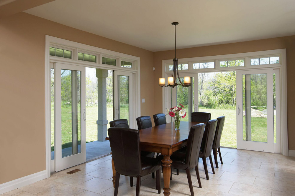 Image of dining room with sliding patio doors